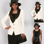 El Marfil/Negras de Elegancia Clásico de SKU*XR-29 Nuevo Lynda 3 Juego de Vestido de Pedazo 139 dólares