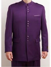 Estilo mandarín Collar Púrpura
