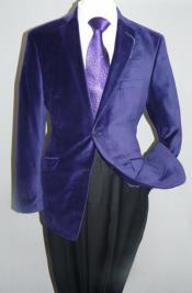 Botón Sólido Púrpura Terciopelo
