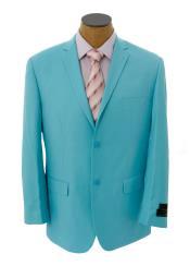SKU*HA715 Blazer de la chaqueta del deporte de la chaqueta y sólido azul claro