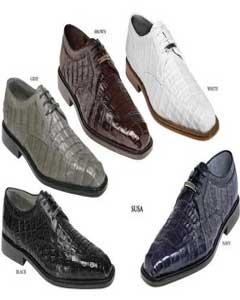 Cocodrilo Cuero Belvedere Zapatos