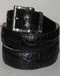 Durable Cocodrilo Cuero Cinturón