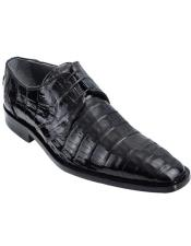 Negro Caimán Vientre Oxfords