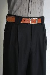 Negro Pierna ancha pantalón