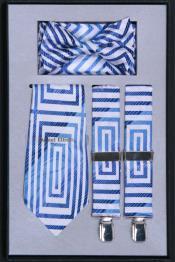 azul liga con corbata