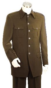 SKU*HP5055 Pleito de Zoot marrón lujoso masculino