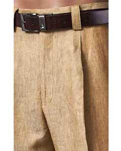 Lino Plisado Verano marrón