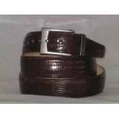 Auténtico Lagartija Cuero Cinturón