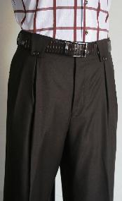 marrón Pierna ancha pantalón