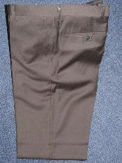 Marrón 100% Lana Pantalones