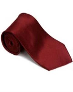 SKU*DF311 Borgoña ~ Seda del 100 % de Color de Vino ~ Granate Corbata Sólida con Pañuelo