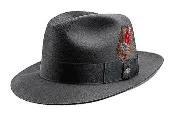 SKU * B02 Carbón Vegetal Muy Suave y Sedoso Fedora Sombrero