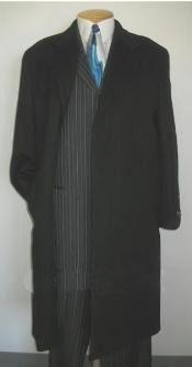 SKU*MTT4 3 botón breasted el sobretodo de lana de cuerpo entero