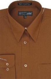 HE254 Vestido marrón Hombres