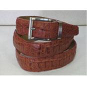 Auténtico Cocodrilo Cuero Cinturón