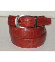 SKU*HA255 De los hombres Auténtico Auténtico Coñac Lagartija Cinturón con hebilla acortar