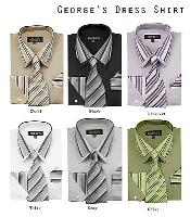 A rayas Collar Vestir