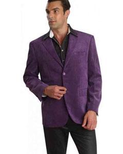 Púrpura Pana Chaqueta de