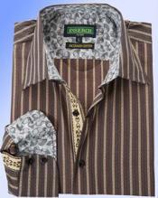 jacquard Algodón Vestir Camisa