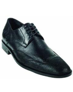 SKU*MK926 Negro Tiburón Piel Vestir Zapato