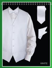 Blanco 4 pieza Chaleco