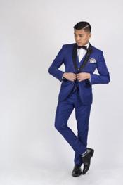 Azul Formal Chaqueta Trajes