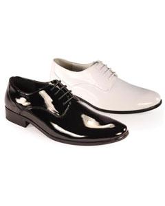 SKU*GP3922 Hombres Negro y Blanco Oxford Cuero Formal Zapatos