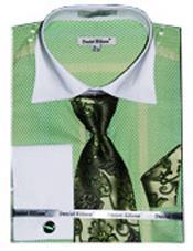 Verde Contraste Blanco Collar