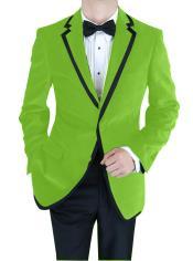 Verde Terciopelo Muesca Collar