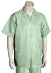 SKU*KA1188 Sabio Corto Manga Ocio Camisa con Pareo Pantalón