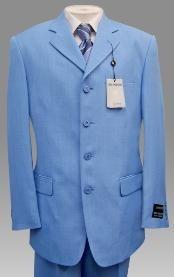 SKU * TNP797 Bebé Azul Suave Tela Tres botón Chaqueta con Pantalón