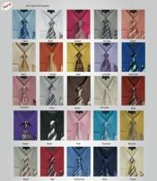 SKU*PN92 Sólido Color Milano Moda Vestir Camisas con Raya Corbata