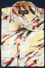 Pintado Poliéster Vestir Camisa