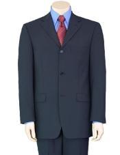 SKU * GB77 3 Botón Azul marino oscuro de lana de negocios Traje