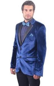 Azul Satín Collar Terciopelo