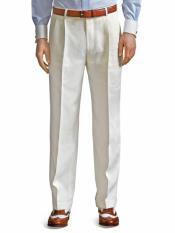 Blanco Marfil Plisado Vestir