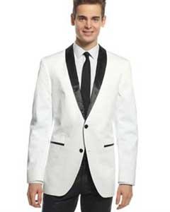 SKU*HA1268 2 Botones Blanco Y Negro Solapa Chal Collar Chaqueta de sport