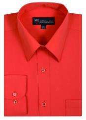 Naranja Tradicional Vestir Camisa