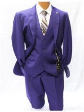 Vett Clásico Ajuste Púrpura