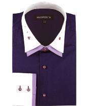 Algodón Vestir Sólido Púrpura