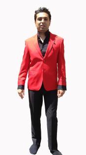 SKU*HA268 de los hombres Elegante Chaqueta deportiva/ de sport en Caliente rojo Color