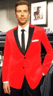 SKU*LR-67 Caliente Rojo Terciopelo Muesca Collar Deporte Abrigo