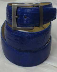 Azul Auténtico Lagartija Cuero
