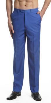 Azul Plano Frente Vestir