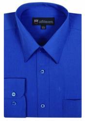 Real Azul Vestir Camisa