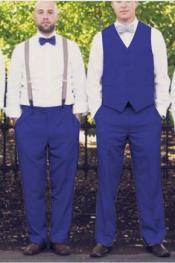 Azul Chaleco y Pantalón