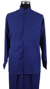 Azul mandarín Collar Camisa