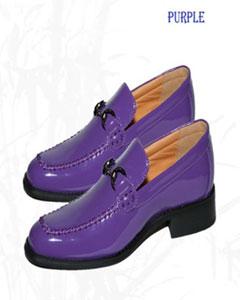 Púrpura Falso Cuero Mocasín