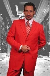 SKU*C73_3PP Breasted solo rojo sólido elegante 3 Botón Vestido de masculino