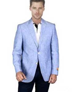 Cielo Azul Lino Chaqueta